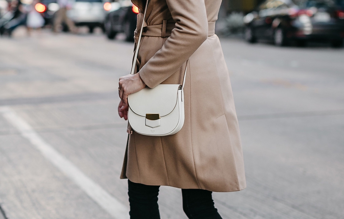 Fashion-Jackson-Tan-Wrap-Coat-Black-Skinny-Jeans-Black-Booties-Celine-White-Trotteur-Handbag