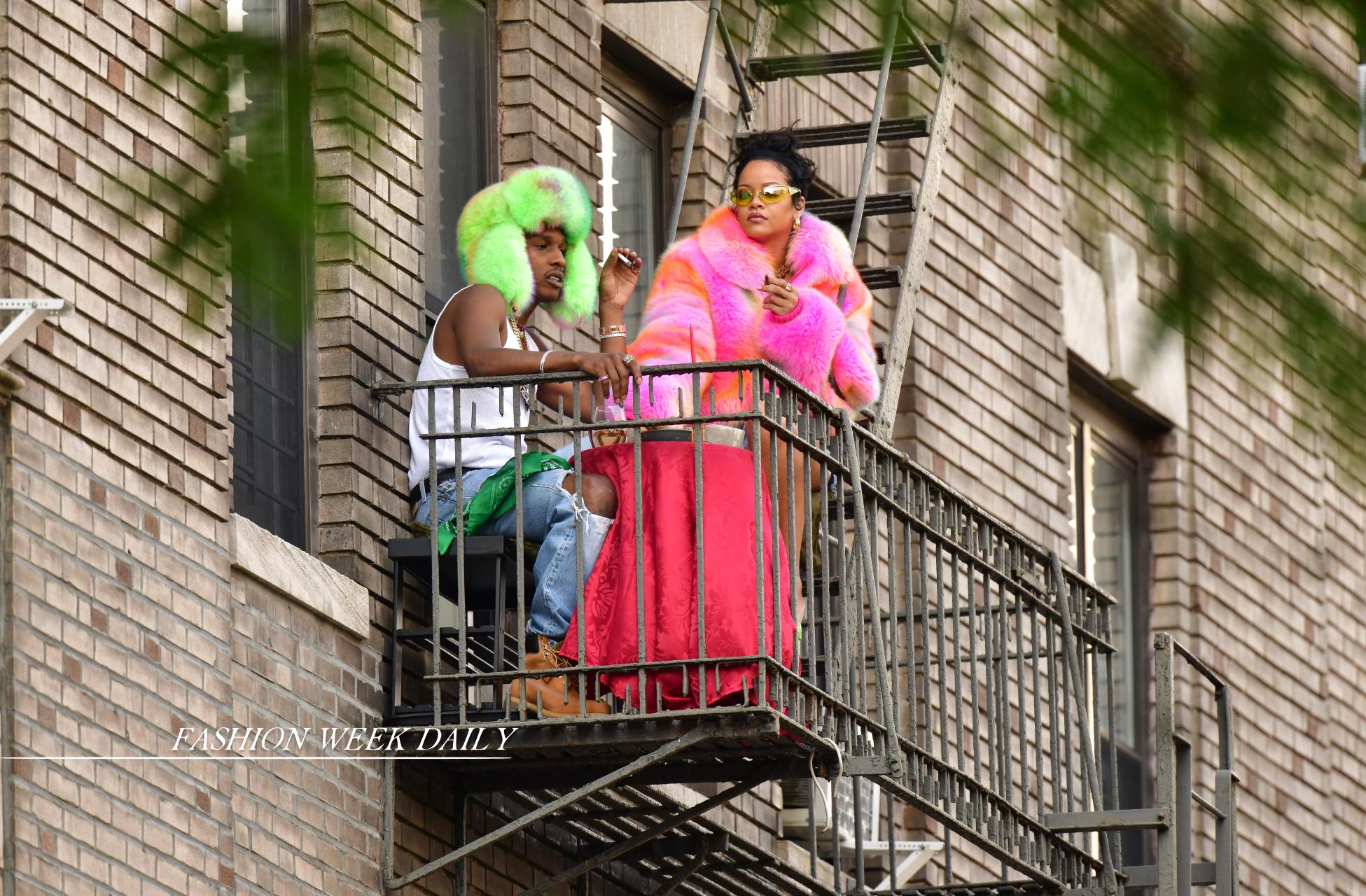 Рианна и A$AP ROCKY на съемках в Бронксе